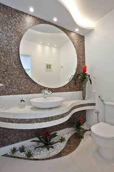 House beautiful bathrooms plants trendy Ideas - either. Dream Bathrooms, Beautiful Bathrooms, Bathroom Plants, Small Bathroom, Rental Bathroom, Wc Decoration, Douche Design, Bathroom Design Luxury, Modern Interior