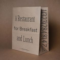 1 year later sample in hand ✔ Collateral Design, Branding Design, Craft Packaging, Product Packaging, Breakfast Restaurants, Beauty Kit, Typography, Lettering, Restaurant Branding