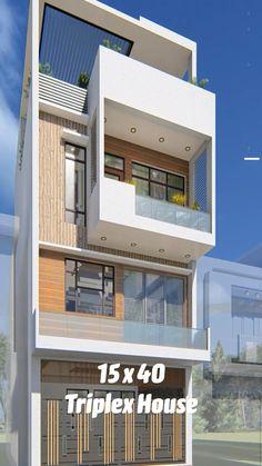 Narrow House Designs, Modern Small House Design, Modern Exterior House Designs, Latest House Designs, Exterior Design, 3 Storey House Design, Bungalow House Design, House Front Design, Home Stairs Design
