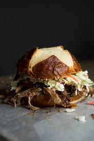 Smoked pulled pork sandwiches for Syelas' birthday party