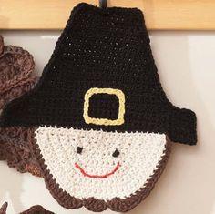 Lily® Sugar 'n Cream® Pilgrim Dishcloth #thanksgiving #crochet #pattern