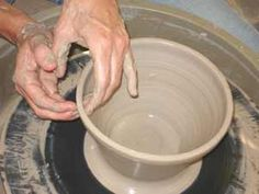 Throwing a Basic Pot on The Potter's Wheel Tutorial | Step By Step Illustrations