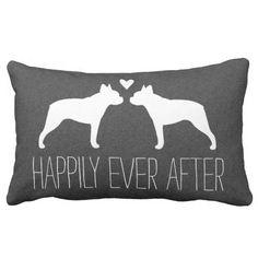 Boston Terriers Wedding Throw Pillow