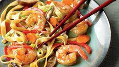 Low-Calorie Shrimp Lo Mein Recipe | Eat This Not That