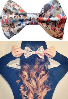 One direction hair bow??!! Perfection, i think yes!!<< WHERE CAN I GET THIS!?!