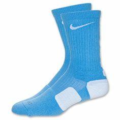 Men's Nike Elite Basketball Crew Socks - Medium| FinishLine.com | University Blue/White
