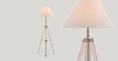 Navy Tripod Floor Lamp in white | made.com