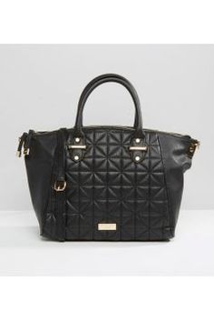Lipsy Quilted Winged Tote Bag - Black