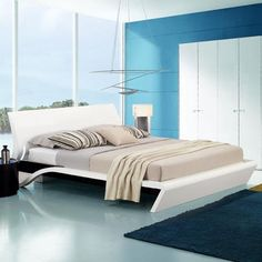 Orca Contemporary Platform Bed with Lights Bedroom Bed Design, Bedroom Sets, Contemporary Bedroom, Modern Bedroom, Bed Furniture, Furniture Design, Folding Bed Frame, Cute Living Room, Bedroom Cupboard Designs