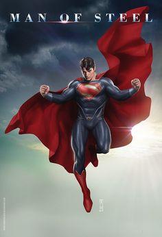 Superman-Man of Steel. Batman Vs Superman, Superman Henry Cavill, Superman Artwork, Superman Wallpaper, Superman Man Of Steel, Kalel Superman, Superman Stuff, Marvel Comics, Dc Comics Art