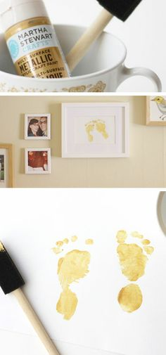 Gold Baby Feet - Mothers Day Crafts for Toddlers