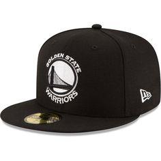 on sale b4907 5883c Men s Golden State Warriors New Era Black Black  amp  White Logo 59FIFTY  Fitted Hat