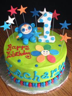 My son's first birthday. Babyfirst TV Peekaboo cake. :) …