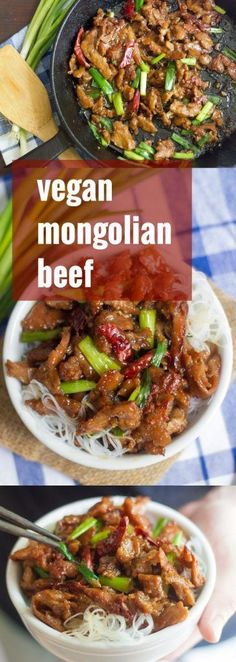 Vegan Mongolian Beef- easy quick and tasty