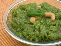 Cashew Pesto  This is so simple yet amazingly delicious!!! Use it on pasta, chicken, fish or spread on crackers or crostini!!! You can use any kind of cashew. I like to use the roasted salted cashew pieces. But if you want unsalted, just adjust the amount of salt at the end.