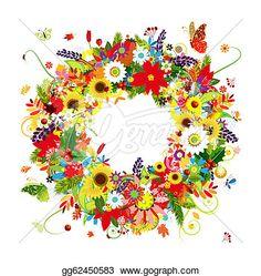 「free flower wreath clipart」の画像検索結果