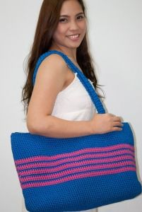Fashionable and durable handmade crochet bags for beach or casual wear. We can personalise according to your color, size and design preferences. Please check www.jessicaphilli... (under More Creations! category) for more details