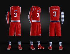 Basketball Uniform Jersey PSD template on Behance
