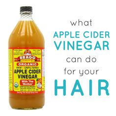 Personally, I've experienced wonderful results using apple cider vinegar for hair and in my diet. Regular use of conditioners and product in your hair can lead to weighed down or frizzy hair. That's where apple cider vinegar for hair comes in. Apple Cider Vinegar Cellulite, Vinegar For Acne, Apple Cider Vinegar Facial, Foot Soak Vinegar, Braggs Apple Cider Vinegar, Vinegar In Hair, Acv, Apple Cider Vinegar Hair, Apple Cider Viniger