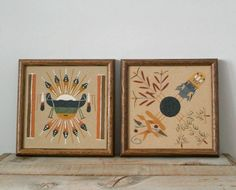 Native American Decor & Related - Vintage Sand Paintings, Vintage Western Art, Tribal, American Indian Art