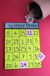 Kindergarten Counting & Numbers Activities: Number Recognition Bingo