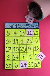 Kindergarten Counting & Numbers Activities: Number Recognition Bingo