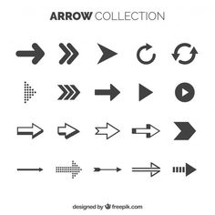 Basic arrow collection with elegant style Map Design, Free Design, Graphic Design, Arrow Line, Arrow Design, Overlays, Signage, Vector Free, Cool Designs
