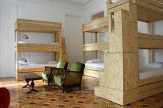 Bunk Bed Stairs The Independente Hostel & Suites in Lisbon, Portugal Best Hostels In Europe, Bed Stairs, Bunk Bed Designs, Suites, Minimal Design, Bunk Beds, Kids Bedroom, Dorm, Minimalism