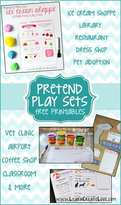 Pretend Play Sets ~ help grow your child's imagination!