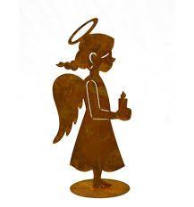 Engel babsi 55 cm hoch rost pinterest kombination for Gartenschmuck aus metall