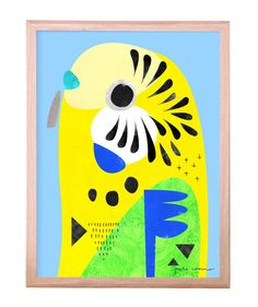 I LOVE this Budgerigar Print!  The most loveable guy in the sky. Bright and fun, this clever budgie will be your favourite new companion at home. Signed and numbered by the artist, Pete Cromer.