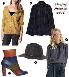 La mode de l'automne 2015 en 5 pièces à shopper >> http://www.taaora.fr/blog/post/comment-etre-stylee-cet-automne-2015-cape-carreaux-gilet-jaune-moutarde-bottines-color-block-chapeau-gris