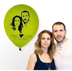 Hochzeitsdeko - Foto - Luftballons bedruckt (50 Stück) - ein Designerstück von Fotogruesse bei DaWanda