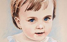 Kinderportrait Farbstiftzeichnung