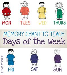 Catchy Preschool Chant to Teach the Days of the Week