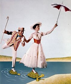 Dick Van Dyke (as Bert) and Julie Andrews (as Mary Poppins). (Photo: Walt Disney Pictures/Photofest)