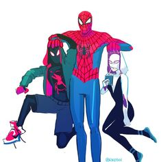 Spider-man : Into the spider-verse Marvel Memes, Marvel Dc Comics, Marvel Avengers, Univers Marvel, Spiderman Art, Black Spiderman, Marvel Fan Art, 3d Fantasy, Fandoms