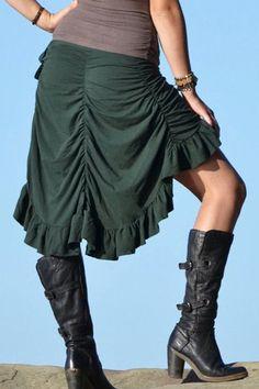 Bustle Wrap Skirt