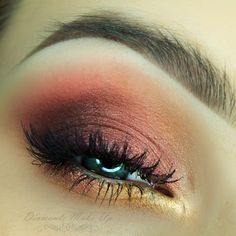 'Showtime' look by Diamante Make Up using Makeup Geek's Casino, Rapunzel, Sin City, Magic Act, and Showtime eyeshadows along with Birthday Wish and Enchanted pigments.