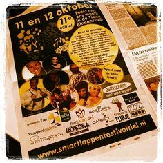 Sjenien en Sjakkelien staan in de Tielse krant! Morgen één groot feest met al onze feestvrienden bij Flipje Tiel, tijdens het Smartlappenfestival!  http://www.smartlappenfestivaltiel.nl #fijnfisjenie #tiel #sjansjee