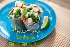 Vietnamese Honey-Soy Shrimp Spring Rolls @Shaina Olmanson | Food for My Family