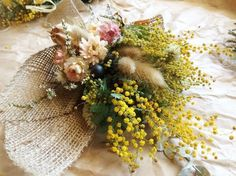 春のお花 ミモザのスワッグ