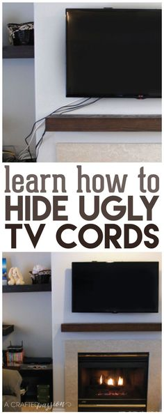 Hide TV Wires - How To - The Easy Way | Hide tv, Cord and TVs