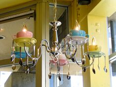Tea party chandelier -- so cute!!