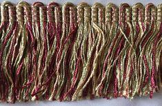 Pink & Green Brush Fringe Decorative Trim 1101 | Etsy Upholstery Trim, Decorative Trim, Pink And Green, Etsy