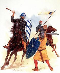 • Italian knight, late 12th century  • German knight, 1150-1200  • Milanese infantryman, c. 1170