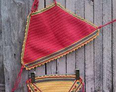 crochet bikini Sea Blue Crochet Vintage by GoodMoodCreations