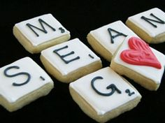 Scrabble cookies in Cookies, biscuits and shortbreads recipes, preparation of the ingredients and step by step instructions of how to cook and bake