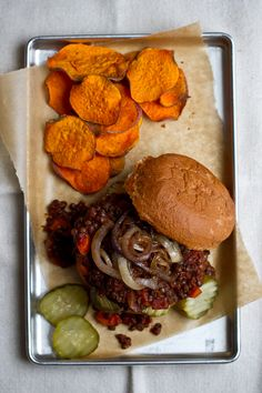 loaded vegetarian lentil sloppy joes - Edible Perspective -