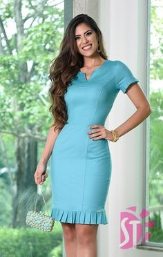 vestido tubinho Source by simarew Dresses Office Wear Women Work Outfits, Office Dresses For Women, Dresses For Work, Clothes For Women, Pretty Dresses, Beautiful Dresses, Modest Dresses, Casual Dresses, Robes D'occasion